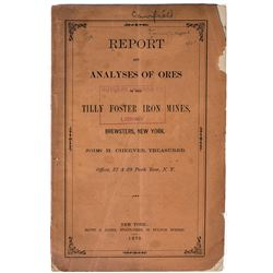 1872 Tilly Foster Iron Mines Report (Brewsters, New York)