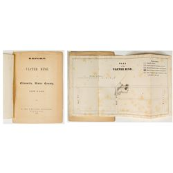 1852 Report of Ulster Mine (James T. Hodge) w/ Folding Map (Ellenville, New York)