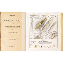1853 Report of the Perseverance Mining Company (Philip T. Tyson) w/ Map (North Carolina)