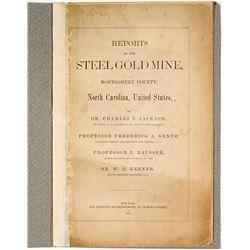 1876 Report on the Steel Gold Mine (Charles T. Jackson) (North Carolina)