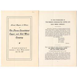 Annual Report of The Person Consolidated Copper & Gold Mines Company (North Carolina)