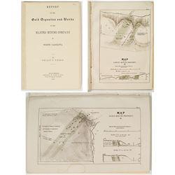 1853 Report of the Manteo Mining Company w/ maps (by. Philip T. Johnson) (North Carolina)