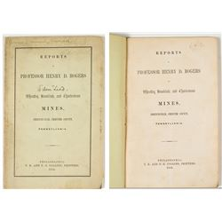 1853 Report of Wheatley, Brookdale, & Charlestown Mines (Henry D. Rogers)