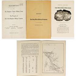 Three Different Utah Mining Reports / Prospectuses
