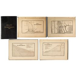 Annual Report of The Rooks Mining Co. (Gold) w/ lithographs and map (Plymouth, Vermont)