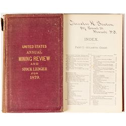 United States Annual Mining Review and Stock Ledger for 1879
