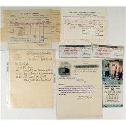 Eight Assay and Blasting Documents (California & Colorado)