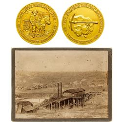 Mining Cabinet Card and Medal
