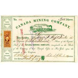 Canada Mining Company Stock Certificate