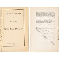 1862 Articles of Association, By-Laws and Report of Halifax Copper Mining Co. (C.T. Jackson)