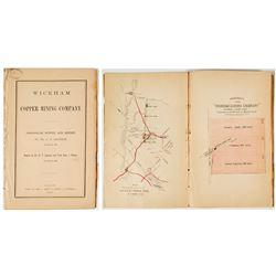 1862 Geological Survey & Report of Wickham Copper Mining Co. (C.T. Jackson) w/ color map