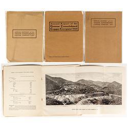 Three Greene Consolidated Annual Reports (w/ foldout photographs) (Sonora, Mexico)