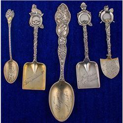 Five Alaska Mining Spoons
