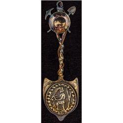 Special 1998 Commemorative Silver Spoon, 150th Anniversary of the California Gold Rush