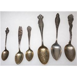 Six Grass Valley Silver Mining Spoons