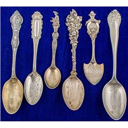 Six Grass Valley Mining Spoons
