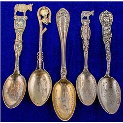 Five Independence Mine Spoons (Cripple Creek, Colorado)