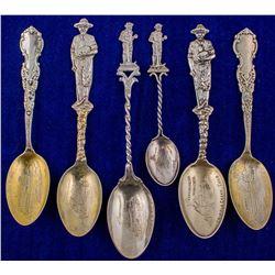 Six Independence Mine Spoons (Cripple Creek, Colorado)