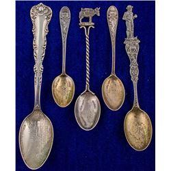 Five Colorado Mines Spoons