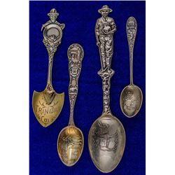 Ouray, Durango & Trinidad, Colorado Mining Spoons