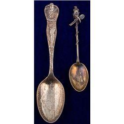 Two Salida, Colorado Mining Spoons