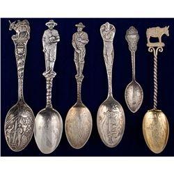 Six Various Colorado Mining Spoons
