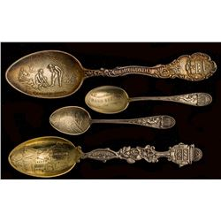 Four Different Colorado Town Spoons