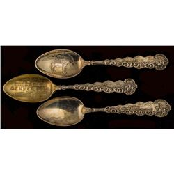 Three Matched Handle Spoons from Colorado