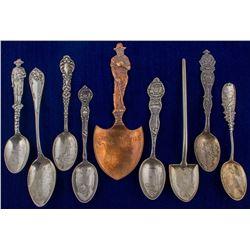 Nine Different Idaho Mining Spoons