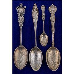 Four Idaho Mining Spoons