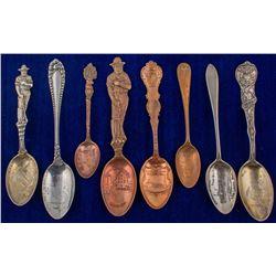Eight Calumet & Hecla Mining Spoons (Michigan)