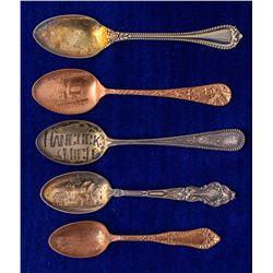 Five Hancock, Michigan Mining Spoons