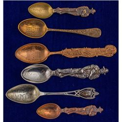 Houghton, Michigan Mining Spoon Collection
