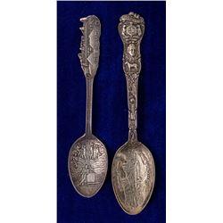 Two Nice Joplin, Missouri Mining Spoons
