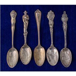 Five Joplin Mining Spoons