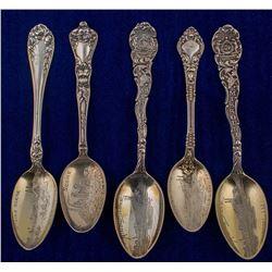 Five Gold Wash Joplin Spoons