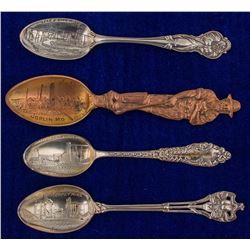Three Joplin and One Galena Mining Spoons