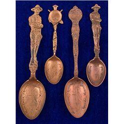 Four Anaconda, Montana Copper Mining Spoons