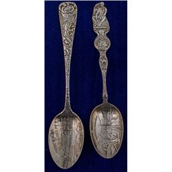 Two Exceptional Butte Mining Spoons