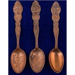 Three Oro Y Plata (Copper) Mining Spoons
