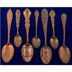 Seven Different Butte Copper Spoons