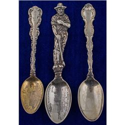 Three Early Butte Engraved Mining Spoons
