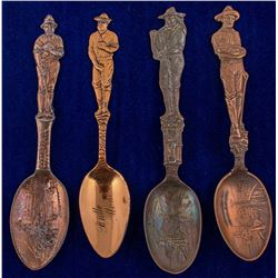 Four Copper Butte Mining Spoons