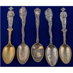 Five Helena Mining Spoons