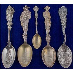 Five Montana Mining Spoons