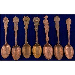 Seven Montana Copper Mining Spoons