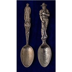 Two Goldfield Mining Spoons