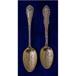 Two C & C Shaft Mining Spoons (Virginia City, Nevada)