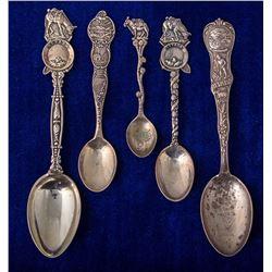 Five Nevada Mining Spoons
