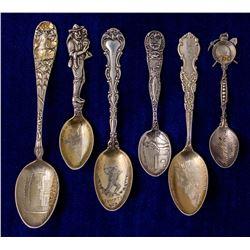 Six Oregon Mining Spoons